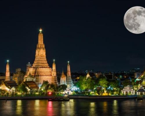 Супер-луние в Таиланде в 2016 году