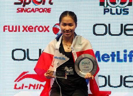 Тайская бадминтонистка стала лидером на открытом чемпионате в Сингапуре