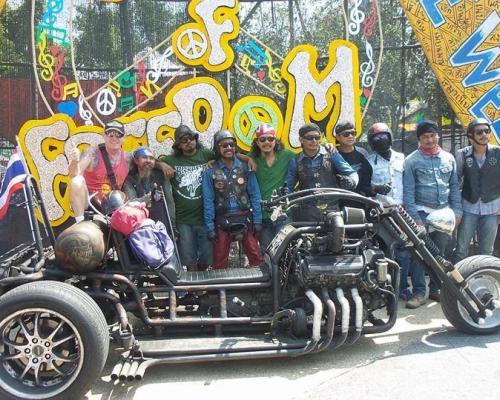 Международный слет байкеров в Паттайе