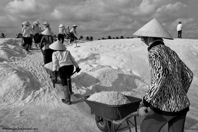 Много маленьких человечков или о том как добывается соль